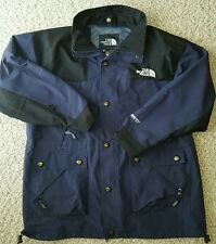 THE NORTH FACE Mens Vtg GoreTex Parka Coat Jacket Sz MED, Blue/Black
