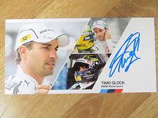 Handsignierte Autogrammkarte *TIMO GLOCK* BMW Motorsportteam DTM Saison 2014
