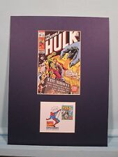 Marvel Comics  Hero The Hulk and First Day Cover of his own stamp