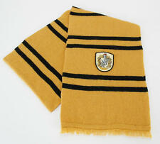 Harry Potter House of Hufflepuff Colors and Crest Knitted Wool Scarf NEW UNUSED