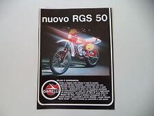 advertising Pubblicità 1980 MOTO GARELLI RGS 50
