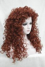 "new fashion sexy Copper Red loose curls 24"" long synthetic hair full wig"