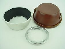 Zeiss Ikon 1132 S60 internal screw-in Hood/Shade Chrome + 1527 Adap Ring & Case