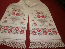 Vintage Ukrainian embroidered  rushnyk  Cherkasy  region #649-