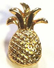Pineapple lapel pin gold finish hospitality pins gift idea lapel pin