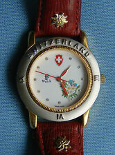 Vintage & Rare! Jacques du Manoir Swiss Watch, B-Watch, Rotes Band