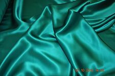 Pure silk crepe back satin, 19 momme, 114 cm, jade green, sold by half meter