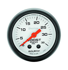 "Autometer Phantom 2-1/16"" Mechanical Boost Pressure Gauge 0-35 Psi (52mm)"