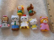 "1.5 "" to 2.5 "" PVC Hello kitty  cake decoration or playhouse dolls X 7 (Ju2-5)"