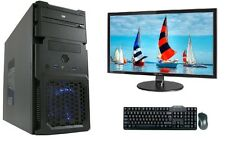 pc complete Set with monitor TFT Computer AMD A8 6600K 27 Inch hdmi SSD
