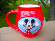 Mickey Mouse 12 Ounce Mug - Red Ceramic -Transfer Design Both Sides
