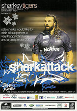 Sale v Leicester Tigers 23 Dec 2007 RUGBY PROGRAMME