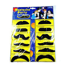 12 x Fake Adhesive Mustache Beard Halloween Cosplay Costume Party In Fancy Dress
