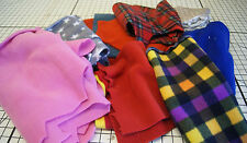 BUNDLE OF SMALL FLEECE FABRIC REMNANTS / OFFCUTS