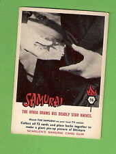 SCANLENS 1964 SAMURAI TV CARD #56 STAR KNIVES