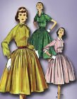 1950s Misses Simplicity Sewing Pattern 1683 Misses Rockabilly Dress Size 14 34B