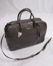 NWT COACH Men Crosby Leather Soft Suitcase Carryon #77248 SLATE