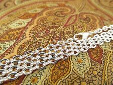 """20 Shiny Silver Vintage Style Necklaces - 24"""" Rolo Chain - Jewelry Findings"""