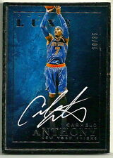 2015-16 Panini Luxe Carmelo Anthony Silver Framed Auto/Autograph #10/35