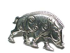 Celtic Boar Pin Badge. English Pewter. Strength, Courage