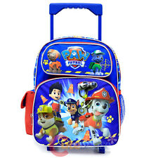 "Nickelodeon Paw Patrol Roller Backpack 12"" Toddler Small Book Bag - Ready Action"