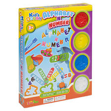 23pc Play Dough Kids vasche ALFABETO ABC numero stampa CUTTER Shaper Bambini Natale