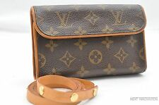 Authentic Louis Vuitton Monogram Pochette Florentine Pouch Bum Bag LV 26474