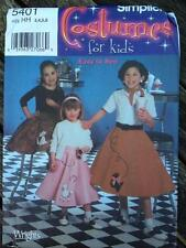 Simplicity Sewing Pattern 5401 Girls' Poodle Skirts Rock 'n' Roll Costume 3-6