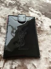 Yves Saint Laurent Ysl Phone Case Black Patent Leather Style Finish