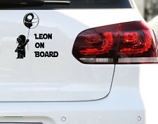 Baby on board Darth Vader auto pegatinas Fun JDM sticker deseo nombre Kids niños