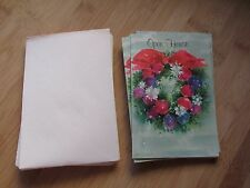 Vintage Greeting Card Invitation Open House Christmas Holiday Stationary Paper 8