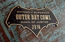 CUSTOM 2016 OUTER BAT COWL DISPLAY PLACARD BATMAN DAWN OF JUSTICE SUPERMAN