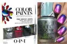 OPI COLOR PAINTS Nail Polish Silver Canvas Pen & Pink Turquoise Aesthetic + TOOL