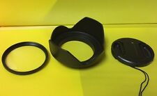 FLOWER LENS HOOD+UV FILTER+CAP 52mm to NIKON NIKKOR 18-55mm 55-200mm