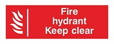 1x FIRE HYDRANT KEEP CLEAR Warning Sticker Water Supply Firefighters for Safety