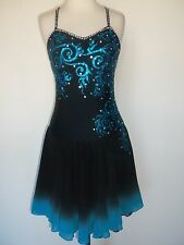 NEW FIGURE ICE DANCING SKATING DRESS COSTUME ADULT S