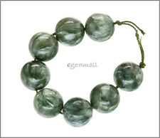 10 Seraphinite Round Beads 14mm #86111