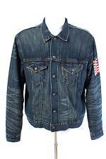 RALPH LAUREN Jacke Gr. 54 / XL 100% Baumwolle Jeansjacke Gefüttert Denim Jacket
