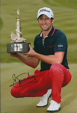 Gregory BOURDY SIGNED AUTOGRAPH 12x8 Photo AFTAL COA Wales Open Tour Golf Winner