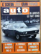 Auto Italiana - 1966 n° 29 - FIAT Dino - Innocenti IM 3-S - meccanica corse