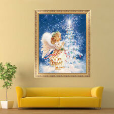 Angel Girl&Xmas Tree Embroidery 5D Diamond Painting DIY Cross Stitch Home Decor