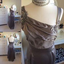 Gorgeous Monsoon Formal Mink Maxi Dress Size 16 Prom/ Cruise