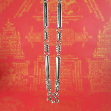 Necklace Amulet Holy Thai Buddha Chain Silver Yunt 5 Row Stainless Steel Hook28""