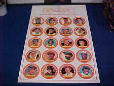 1988 FANTASTIC SAM'S HAIR PROMO UNCUT SHEET BASEBALL CARDS BRETT SMITH GWYNN+++