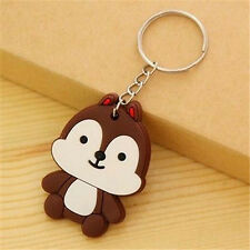 Korea Cartoon Keyring Cute Brown Squirrel Keychain Keyring Key Ring Chain Gift