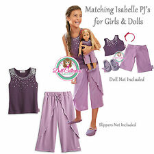 American Girl CL LE ISABELLE DUO PAJAMAS SIZE XL (18-20) for Girls & Dolls NEW