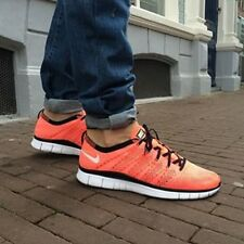 NIKE FREE FLYKNIT NSW Running Trainers Shoes Gym Casual - UK 8 (EUR 42.5) Lava