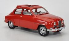 Neo 1963 Saab 96 Red with open roof in 1/18 Scale. Hard to find!