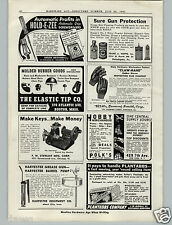 1941 PAPER AD F W Stewart Key Cutting Making Machine
