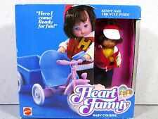 NIB THE HEART FAMILY DOLL MATTEL BABY COUSINS KENNY & TRICYCLE